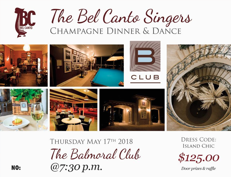 Bel Canto Champagne Dinner and Dance