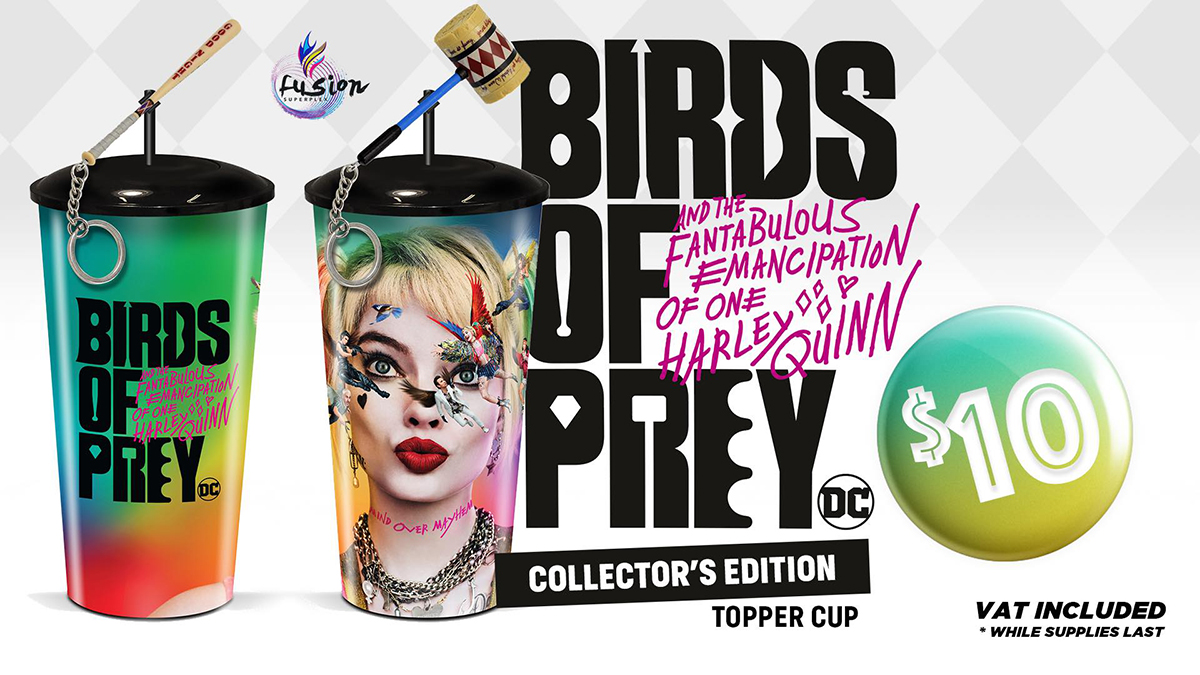 Enhance your Birds Of Prey watching experience with your very own collectible cup!