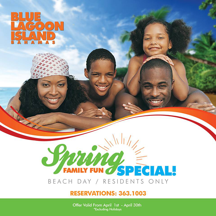 Join us at Blue Lagoon Island during the month of April for our Spring Special!