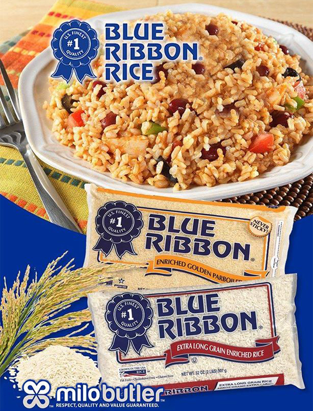 Milo Butler Distributors | Skip the fuss with Blue Ribbon rice and get that never stuck quality.
