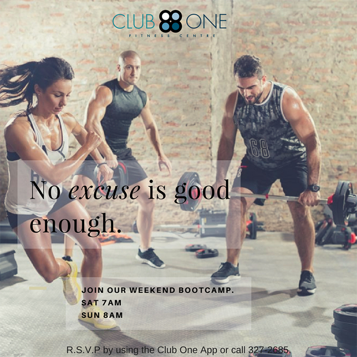 Weekend Bootcamp at Club One Fitness Centre