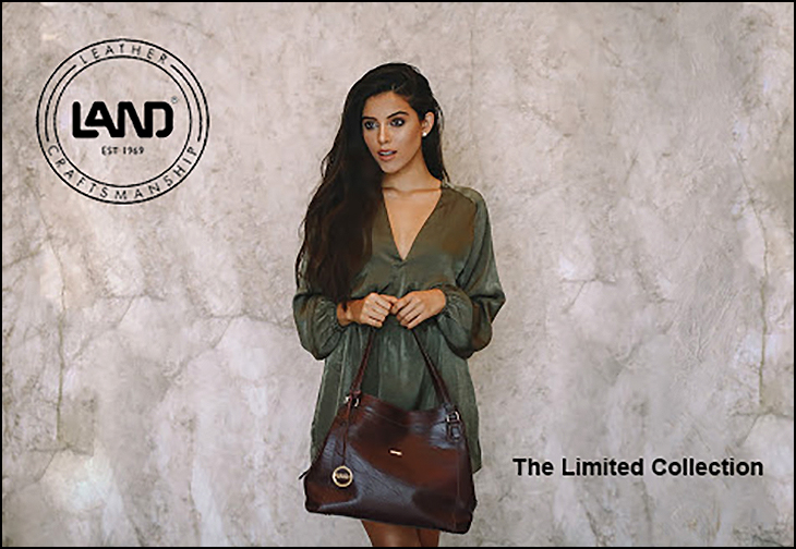 LAND LIMITED # 33715 in burgundy - a triple compartment must have bag.