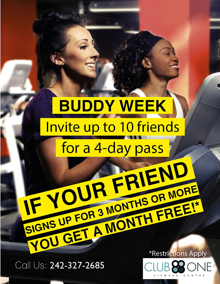 Buddy Week at Club One Fitness Centre | Invite Up To 10 Friends