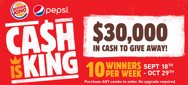 Burger King Nassau and Pepsi's $30,000 CASH IS KING Promotion!