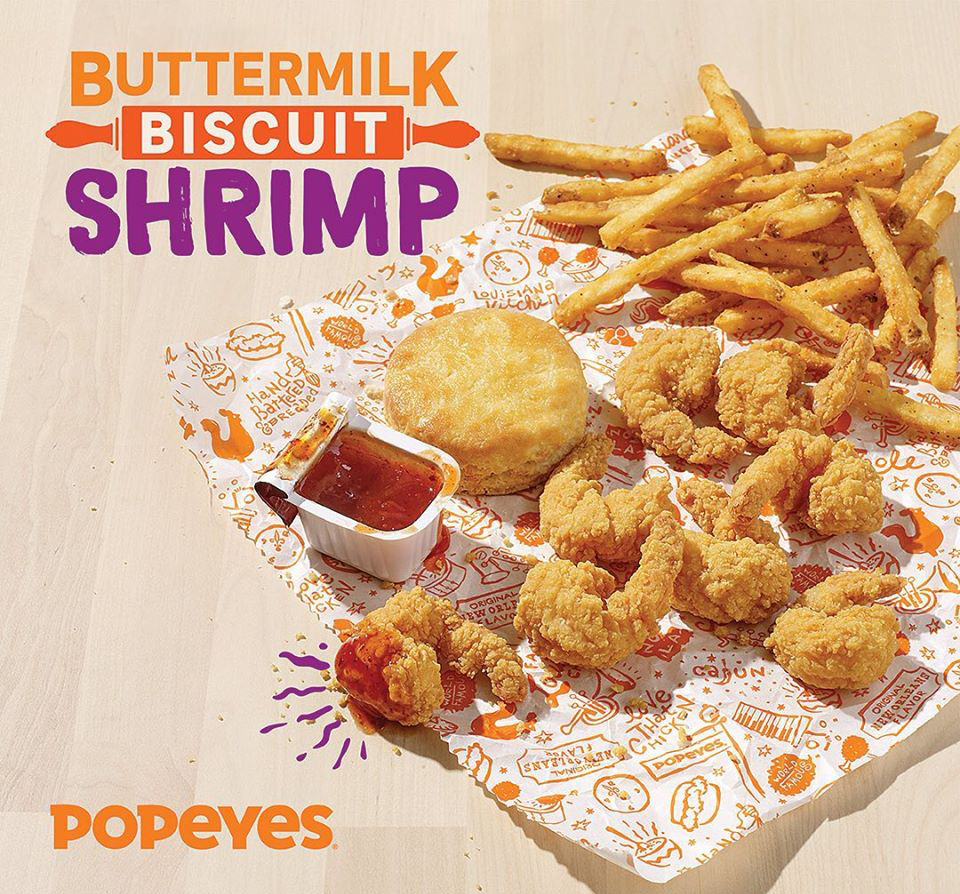 Popeyes Buttermilk Biscuit Shrimp Goodness Is Here
