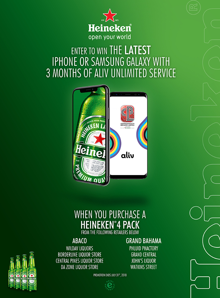 HEINEKEN Beer | Enter To Win The Latest iPhone or Samsung Galaxy With 3 Months of Aliv Unlimited Service