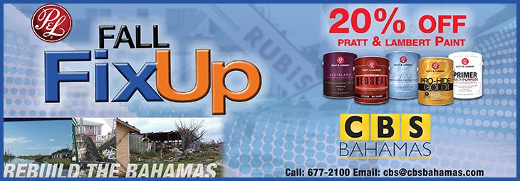 Shop at CBS Bahamas now and save 20% OFF Pratt & Lambert Paints.