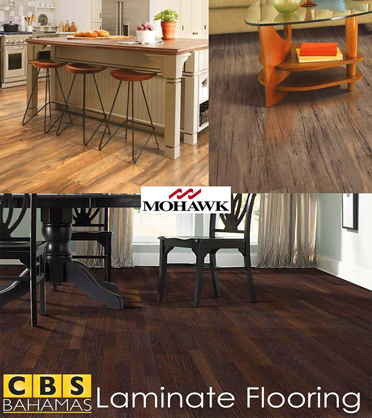 Laminate flooring is available at CBS Bahamas!