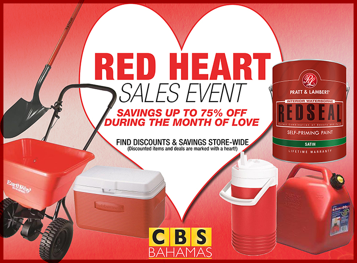 CBS Bahamas | Shop during the month of February and Save up 75% off during the month of LOVE!