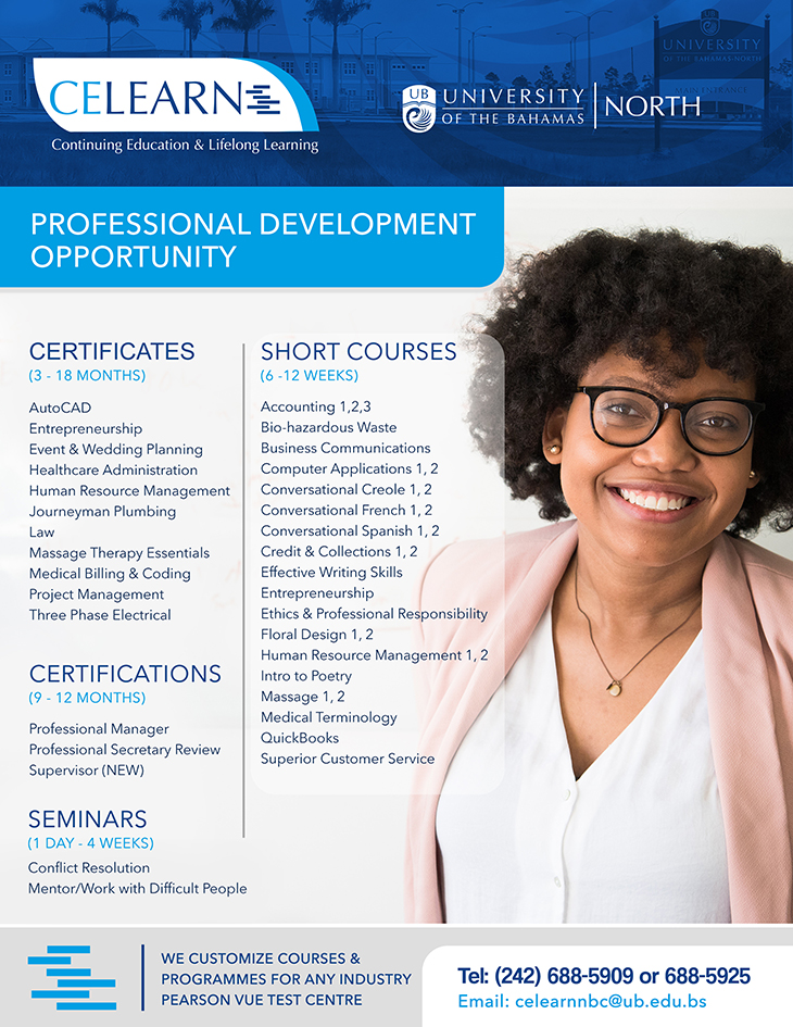 Personal Development Opportunity At The University Of The Bahamas