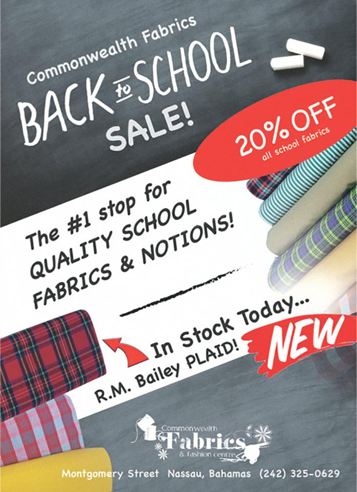 Commonwealth Fabrics Center Back To School!