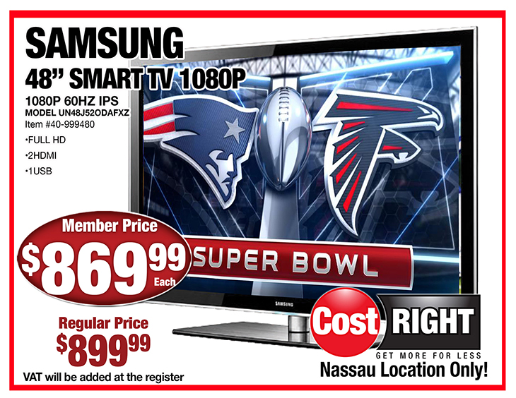 Samsung TV At Cost Right