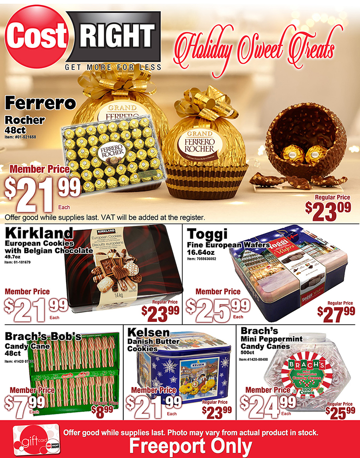 Cost Right Holiday Sweet Treats!