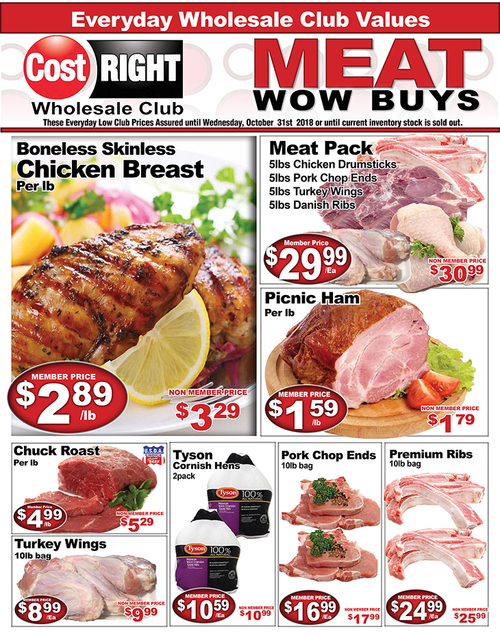 Cost Right Meat Wow Buys!