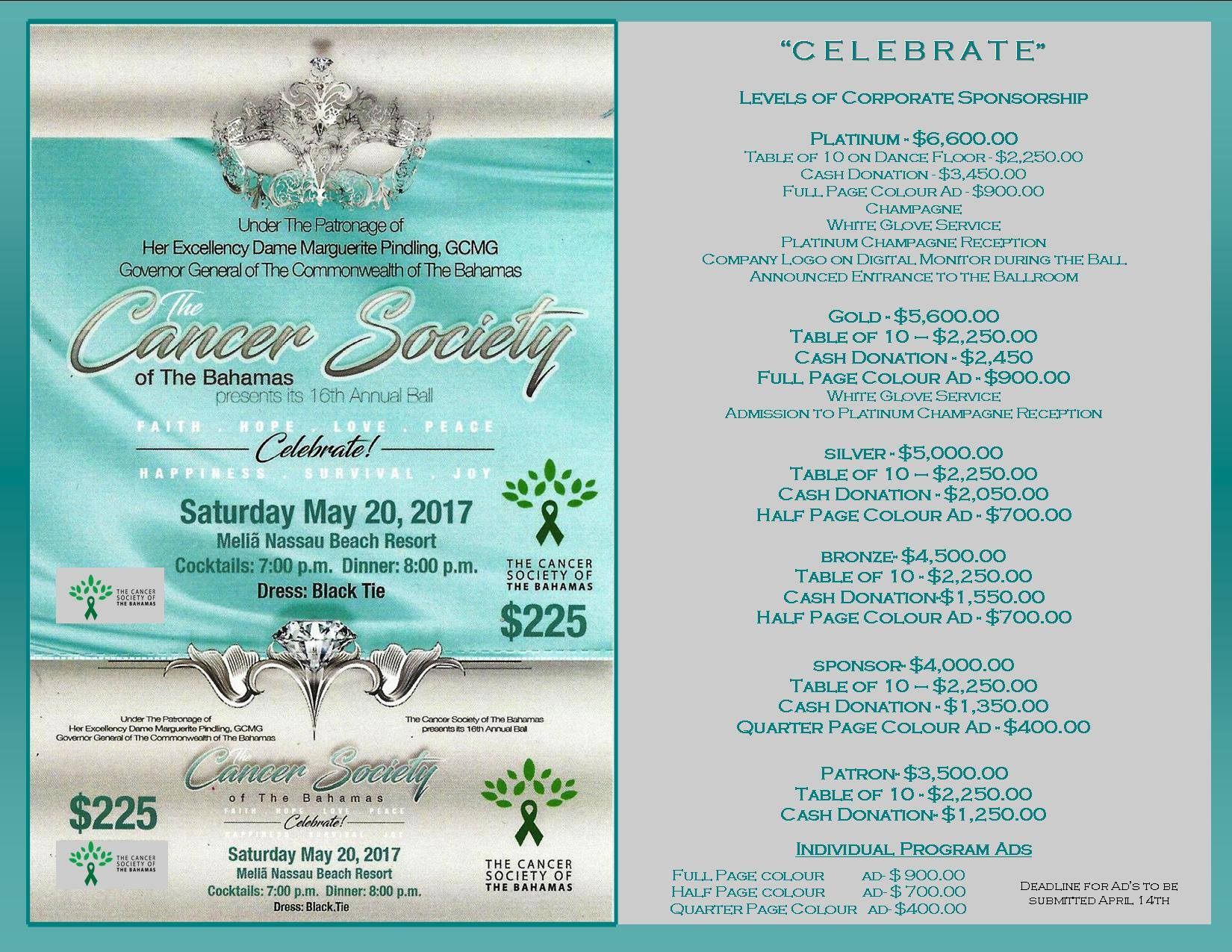 16th Annual Cancer Society of The Bahamas Ball