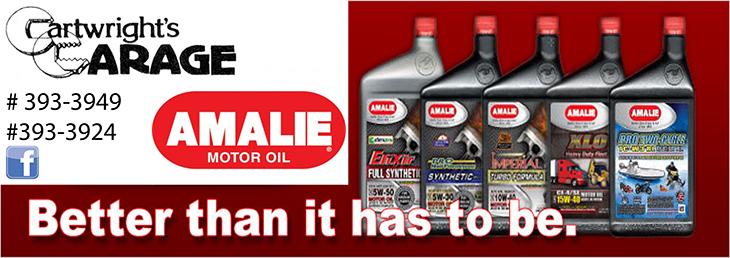 Cartwrights Garage Ltd Amalie Oil