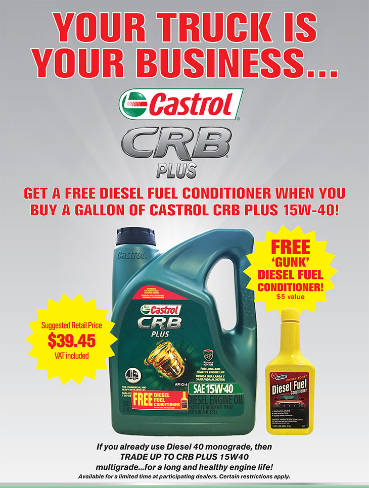 Bay Street Garage | CBR Plus FREE Diesel Conditioner