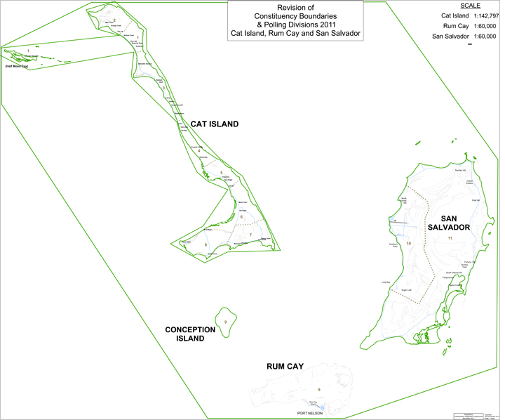 Cat Island and Rum Cay Constituency Map