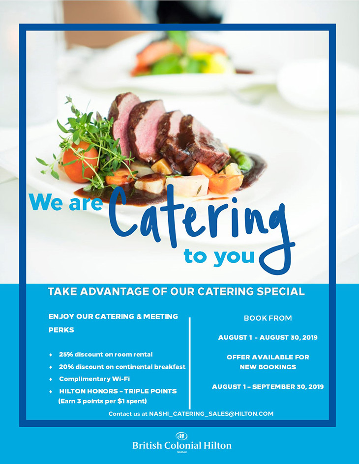 We Are Catering To You At Colonial Hilton Local Rates
