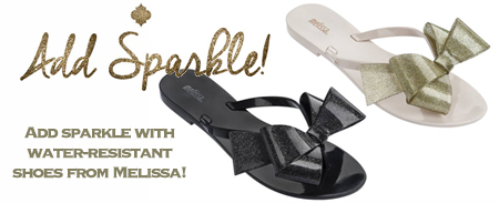 Rainy weather doesn't have to dampen your style. Add sparkle with these water-resistant shoes from Melissa!