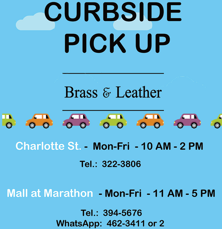 Curbside Pick-Up At Brass and Leather