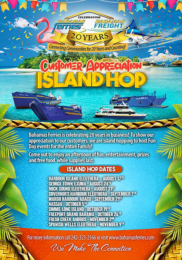 Bahamas Ferries Customer Appreciation Island Hop
