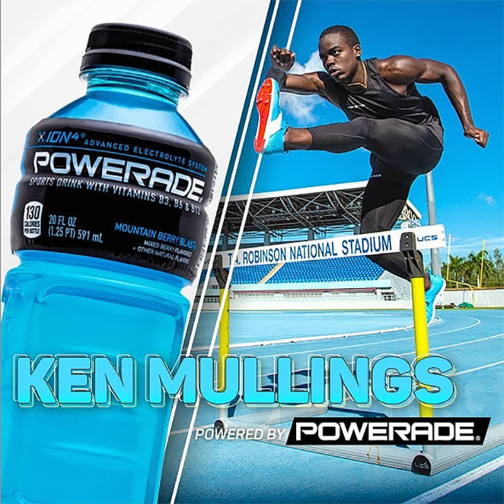 Now available at Caribbean Bottling Co.! Ken Mullings, with Powerade & Dasani!