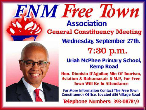 FNM Free Town Constituency Association General Constituency Meeting