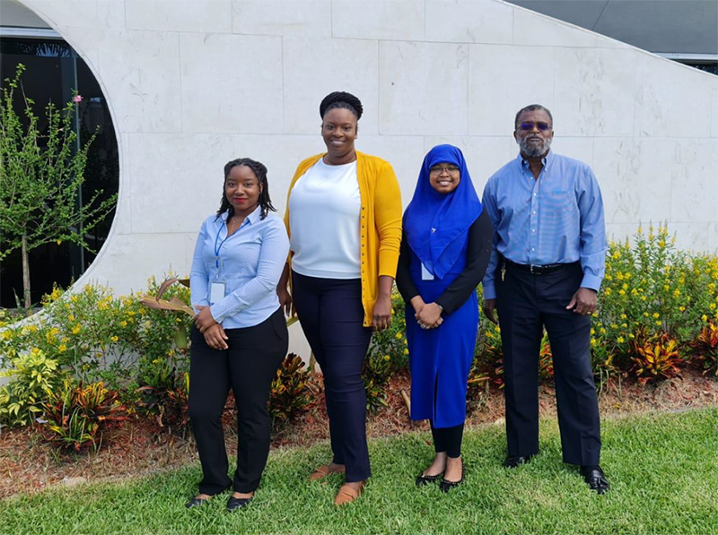 BDB SDI team Pictured from left to right: Paige Bastian-Project Administrator, Regina Smith-Project Officer, Sumayyah Cargill-Unit Head SDI, Dave Smith-Managing Director