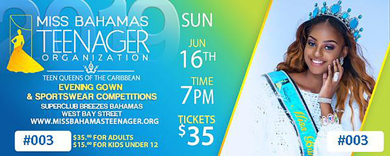 Miss Bahamas Teenager Pageant Evening Gown & Sportswear Preliminary Competitions