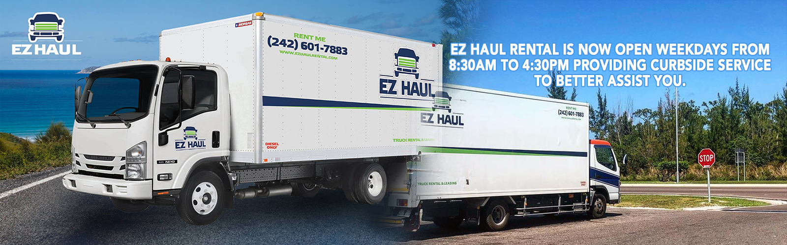 EZ Haul Rental is now open weekdays from 8:30am to 4:30pm providing curbside service to better assist you.