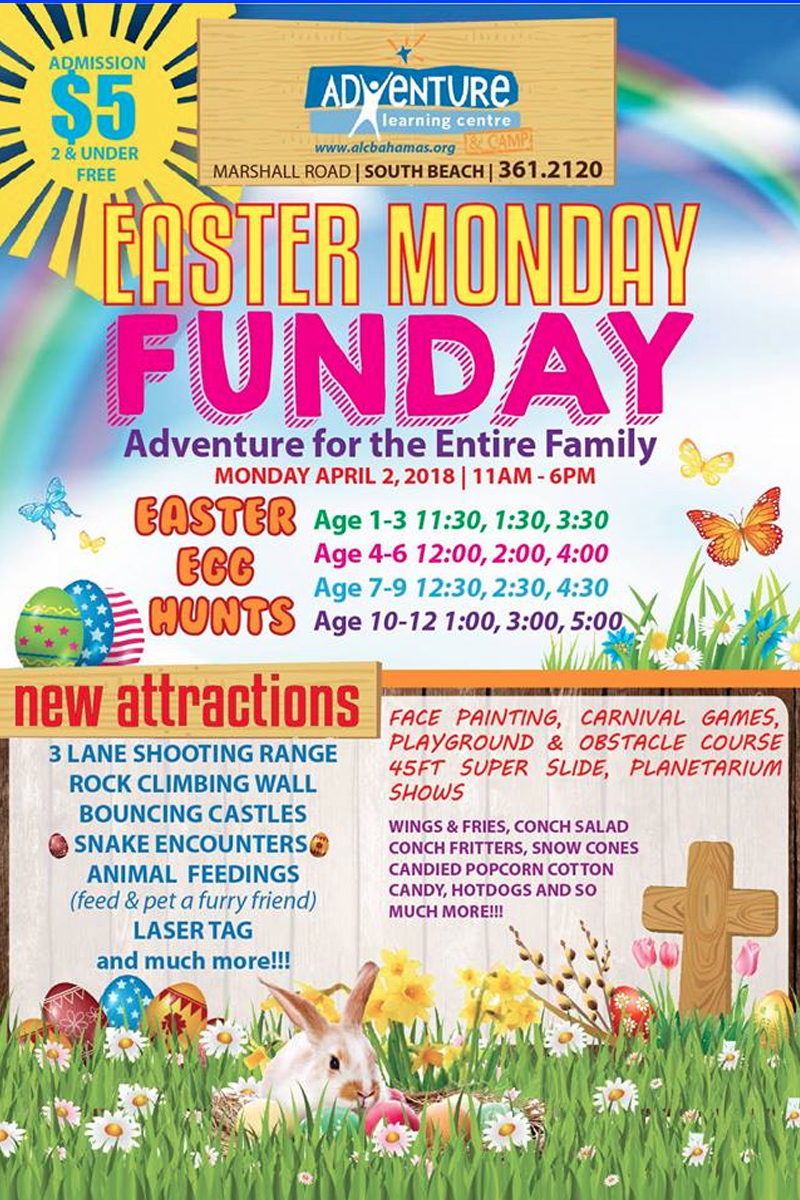 Easter Monday Funday Hosted by Adventure Learning Centre & Camp