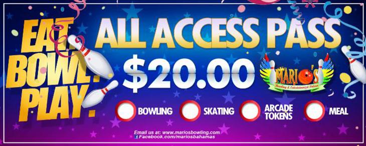 Eat.Bowl.Play at Marios Bowling and Entertainment Palace
