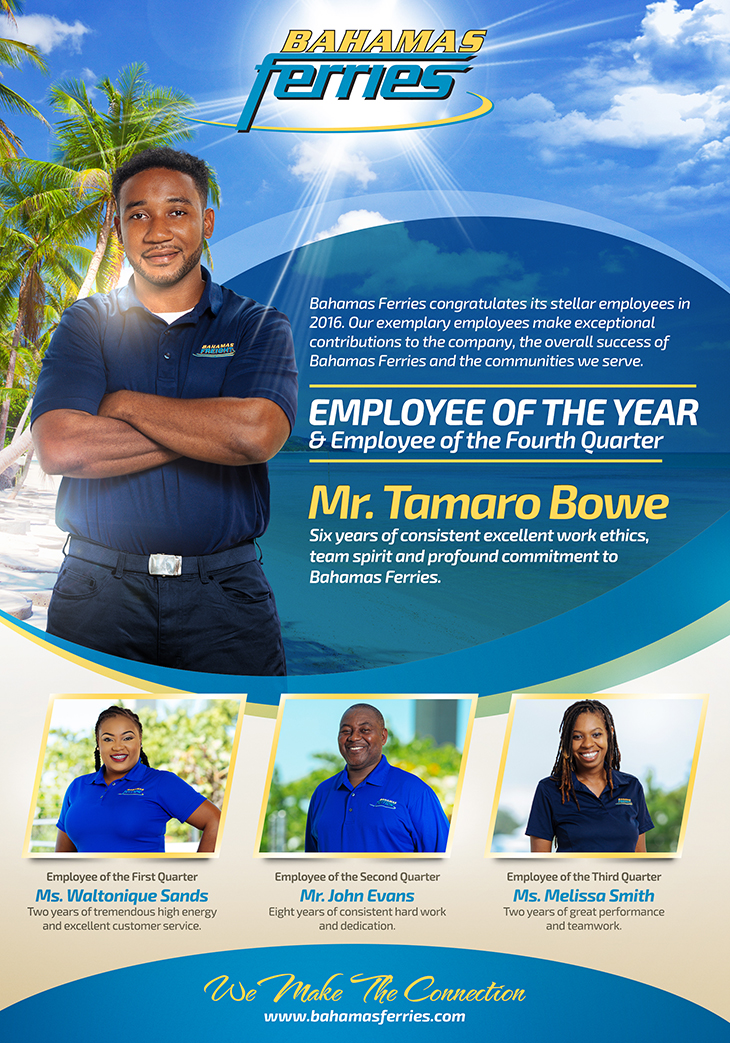 Employee of the Year at Bahamas Ferries