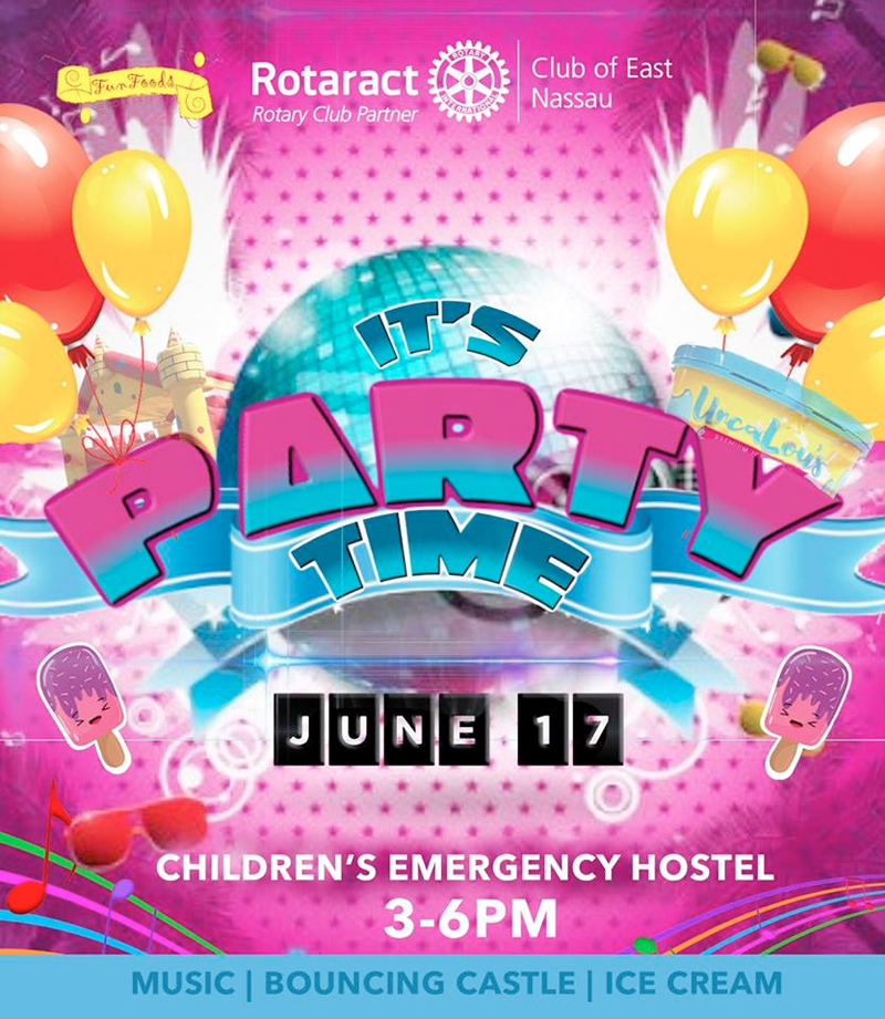 End of year Party at Children's Emergency Hostel Hosted by The Rotaract Club of East Nassau