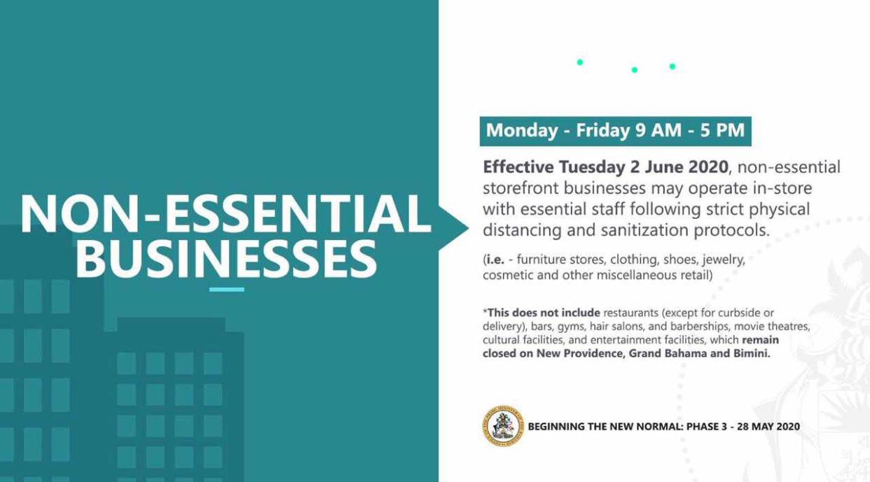 Non-Essential Effective Tuesday June 2nd