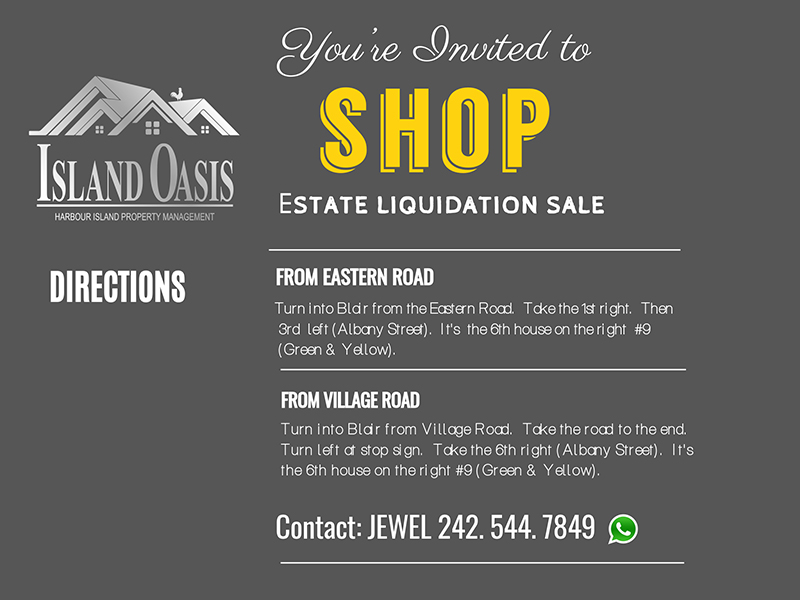 Island Oasis Estate Liquidation Sale