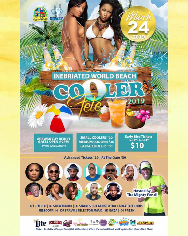 Inebriated World Beach Cooler Fete 2019