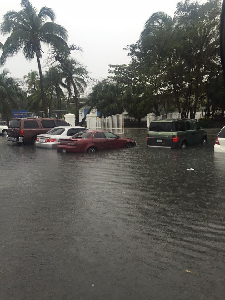 As Seen In The Images Below Harbour Bay Ping Plaza Area Is Under Severe Flooding Due To Large Rain Drops New Providence Today