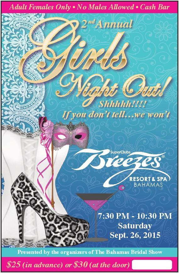 2nd Annual Girls Night Out! | Super Club Breezes Resorts and Spa Bahamas
