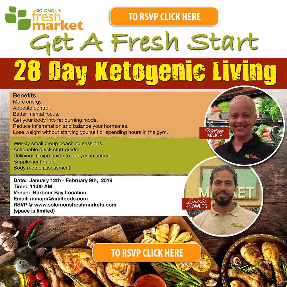 Solomons Fresh Market. Get A Fresh Start. 28 Day Ketogenic Living.