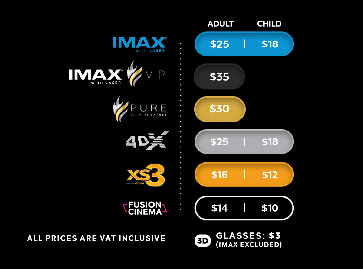 FUSION SUPERPLEX CINEMA PRICES
