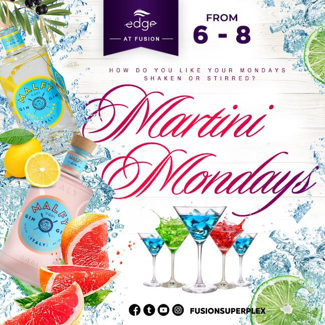 How do you like your Mondays? Shaken or Stirred? Join us on Edge every Monday for specials featuring Malfy Gin!