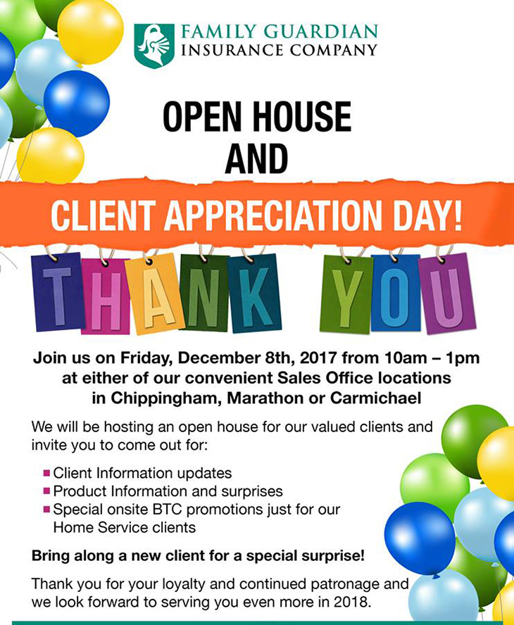 Open House And Client Appreciation Day!