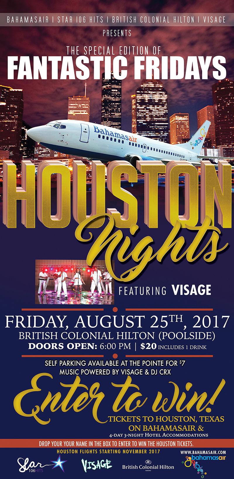 Fantastic Fridays at British Colonial Hilton presents Houston Nights