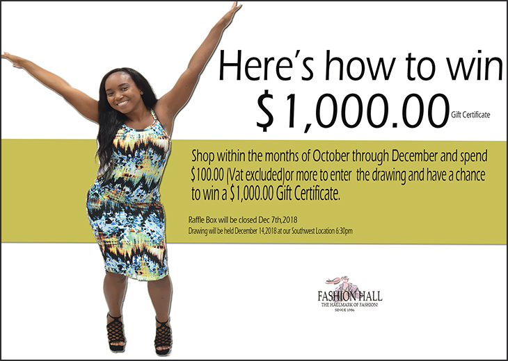 Enter To Win $1,000.00 Gift Certificate