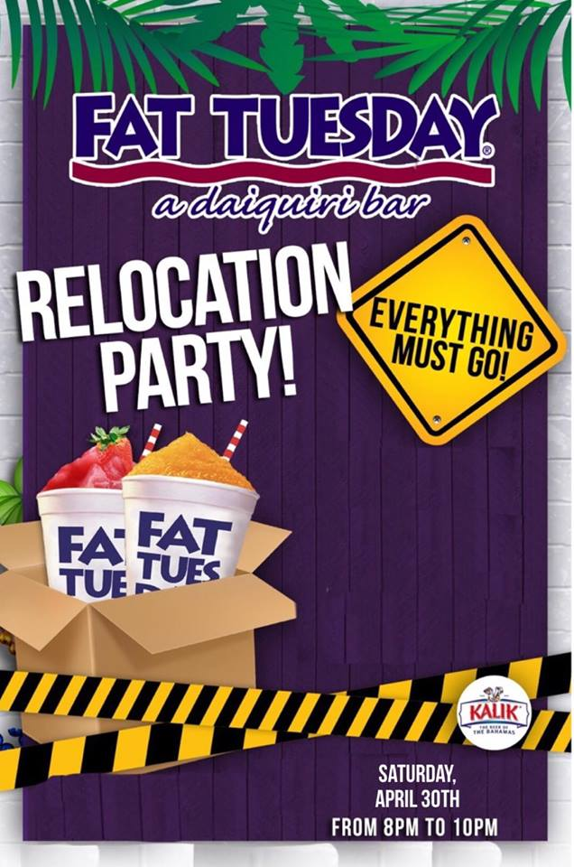 Fat Tuesday Relocation Party