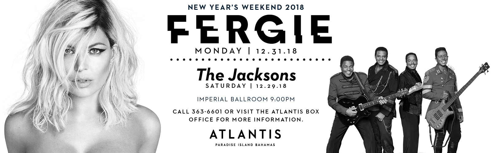 Fergie and the Jacksons Atlantis New Years Shows