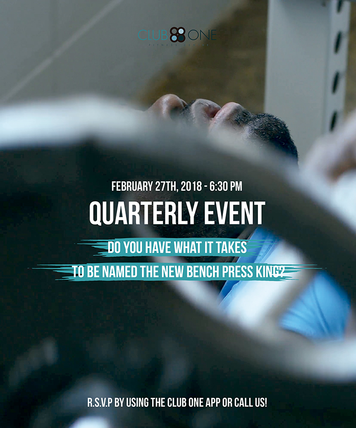 Quarterly Event at Club One Fitness Centre
