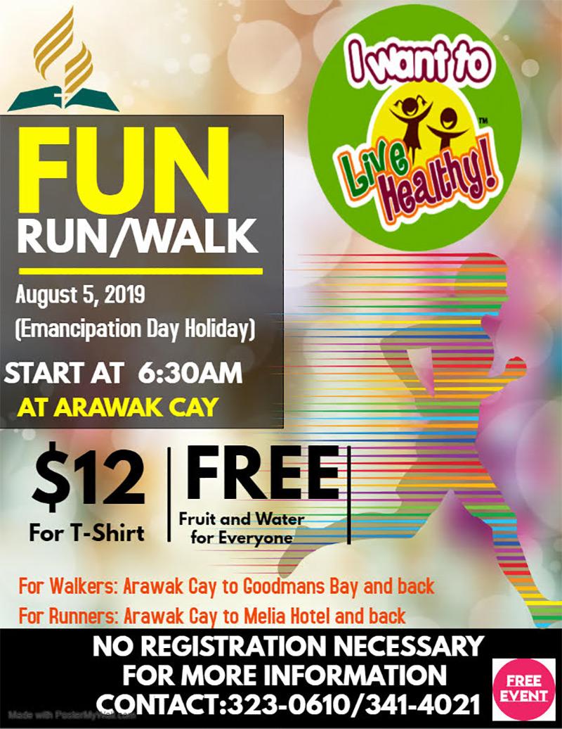 FREE Emancipation Day Holiday Fun Run Walk
